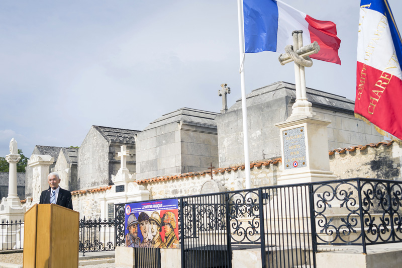 Ville de Saintes - Inauguration d'un ossuaire