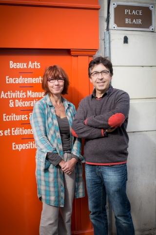 Boutique des Arts à Saintes - portrait des gérants