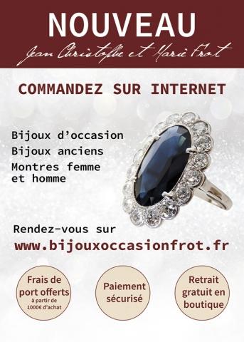 Affiche publicitaire vente de bijoux d'occasion Frot