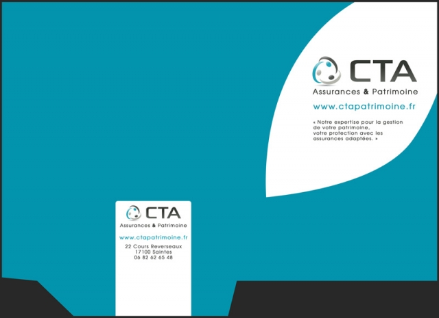 Pochette commerciale CTA Assurance et Patrimoine recto