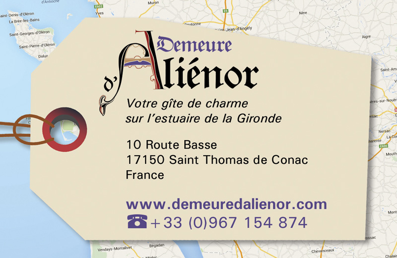 Carte de visite Demeure d'Aliénor