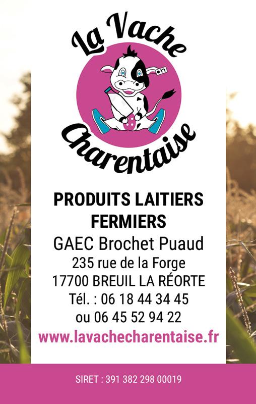 Carte de visite La Vache Charentaise
