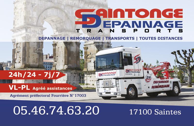 Saintonge Dépannage Transports Carte de visite recto
