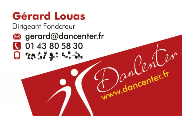 Carte de visite du Dancenter - Gérard Louas
