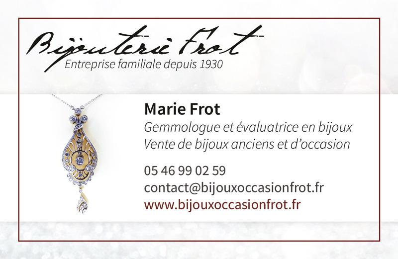 Carte de visite Marie Frot recto