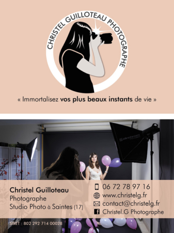 Carte de visite Christel Guilloteau Photographe