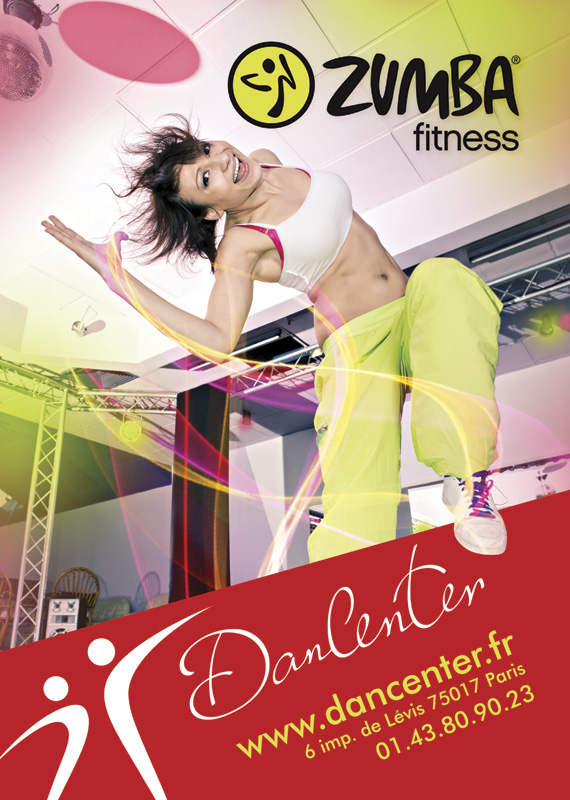 Affiche Zumba du Dancenter