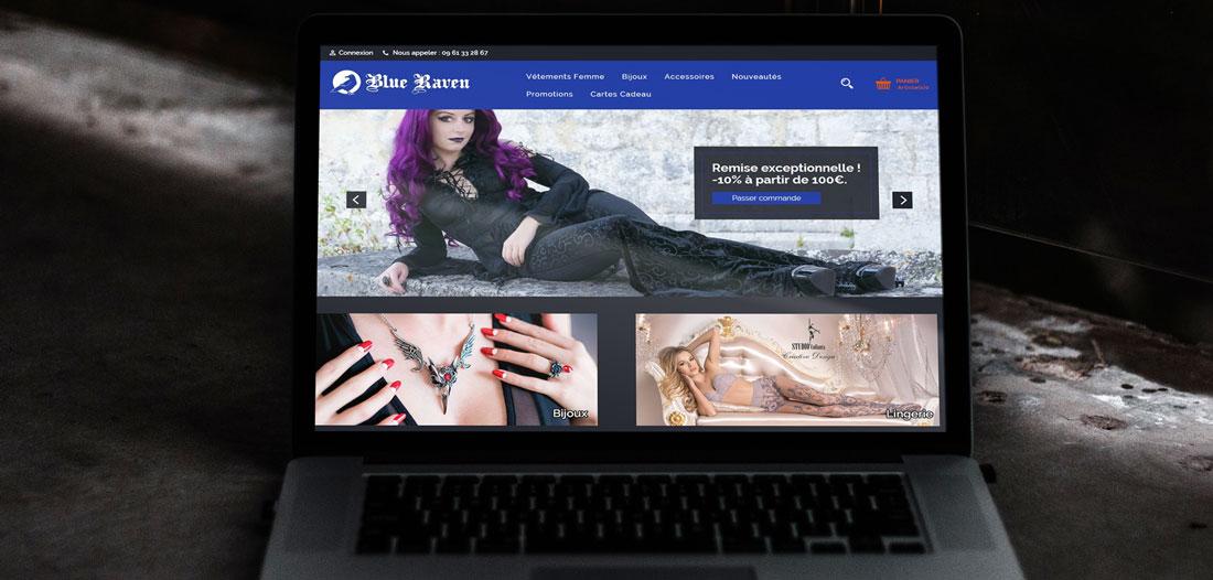 Site web Blue Raven