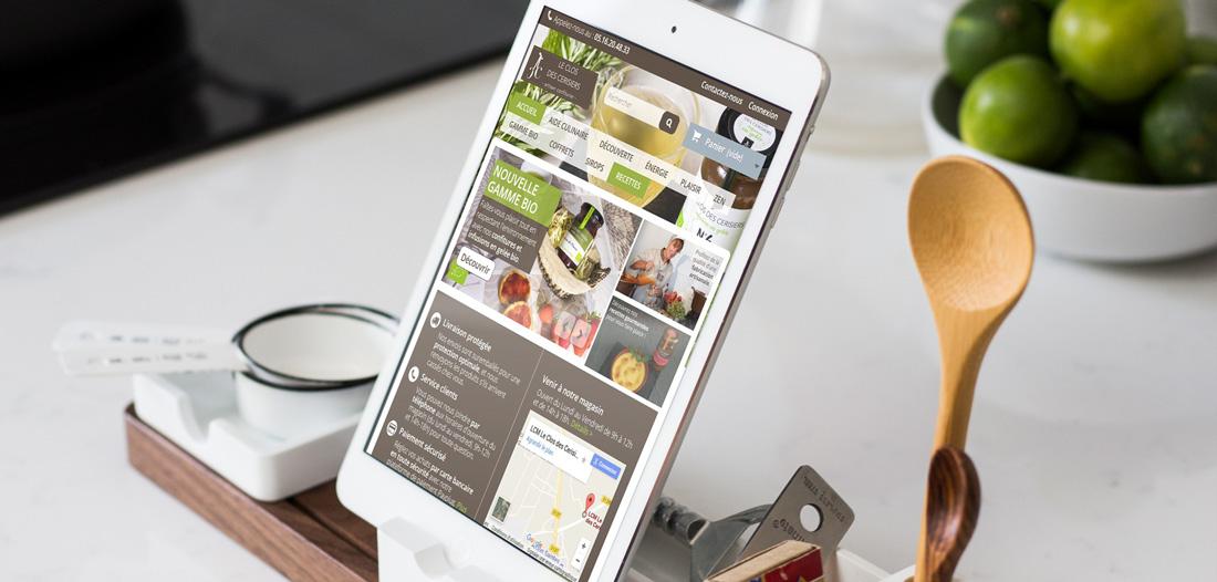 Site web Clos des Cerisiers