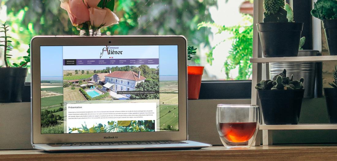 Site web Demeure d'Aliénor