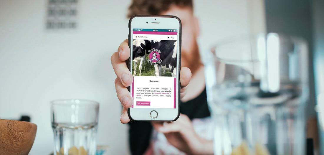 Site web La Vache Charentaise