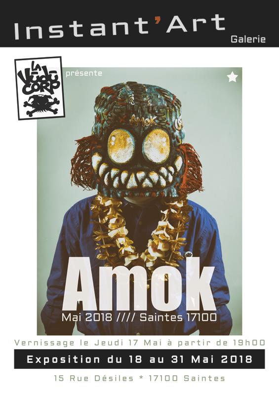 """Affiche de l'exposition """"Amok"""""""