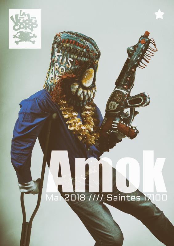 "Poster de l'exposition ""Amok"""