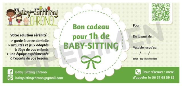 Bon cadeau Baby-Sitting Chrono