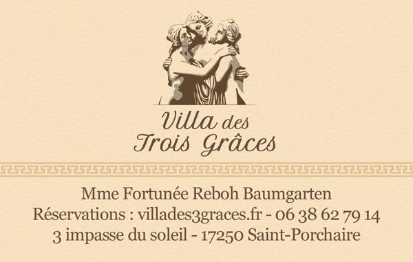 La Villa des Trois Grâces - Carte de visite recto