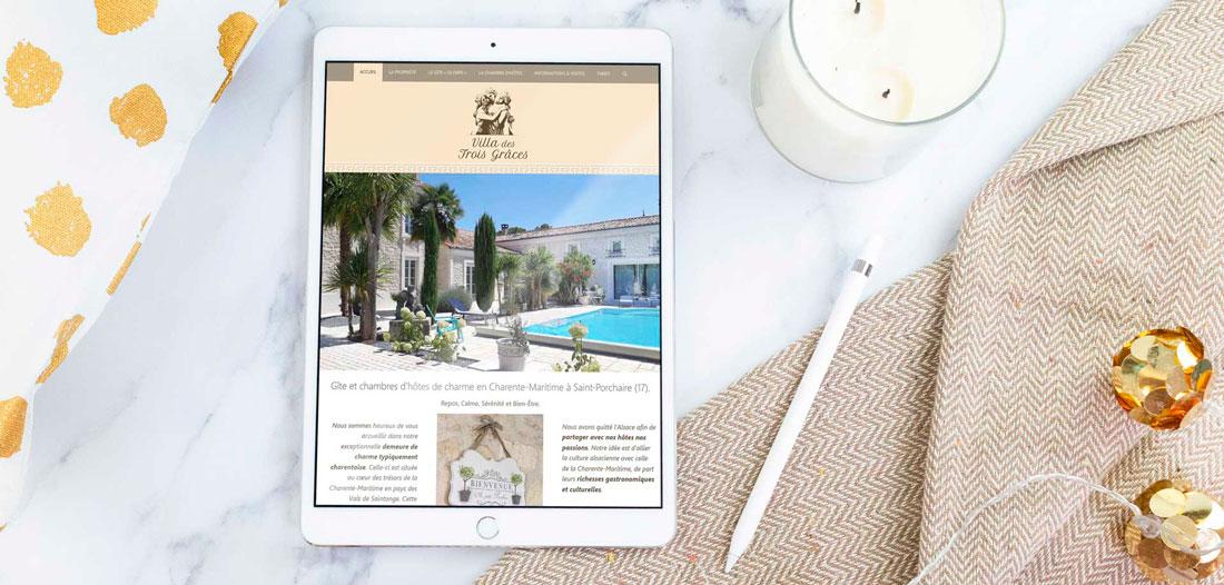 Site web Villa des 3 Grâces