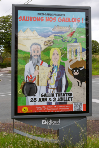 Affiche spectacle Ellzidanse 2019 - abribus