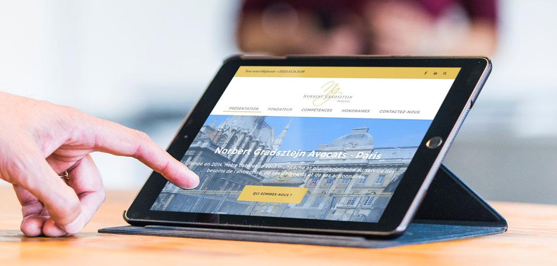 Site web Norbert Gradsztejn Avocats