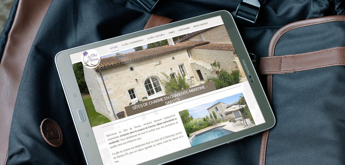 Site web Le Clos de Tesson