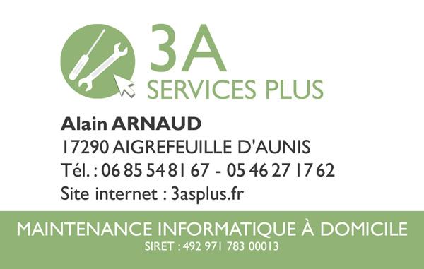 Carte de visite 3A Services Plus
