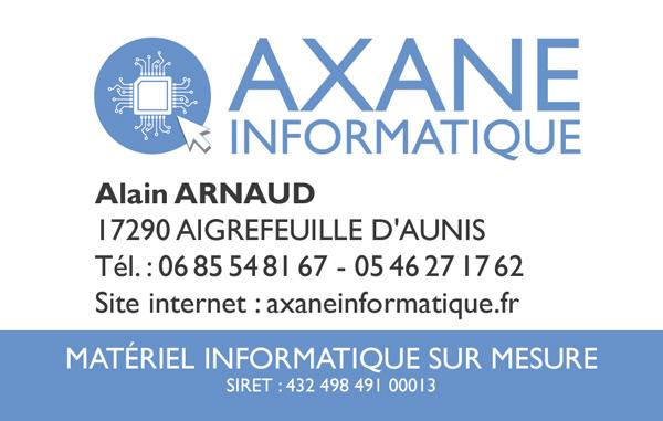 Carte de visite Axane Informatique