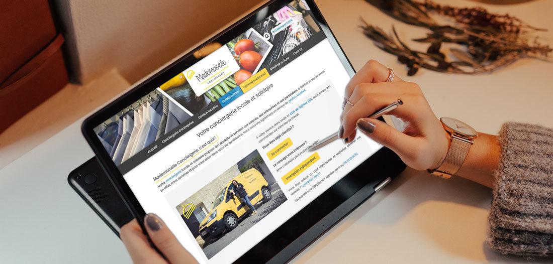 Site web Mademoiselle Conciergerie